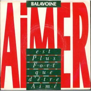 Daniel Balavoine Aimer est plus fort que d'être aimé